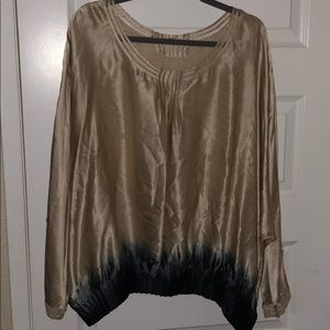 Silk ombré blouse